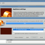 Virtualbox in the process of importing a new appliance.