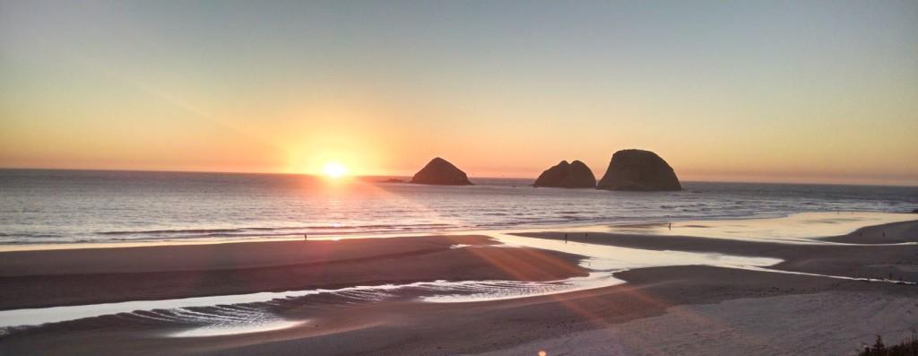 A sunset in Oceanside Oregon