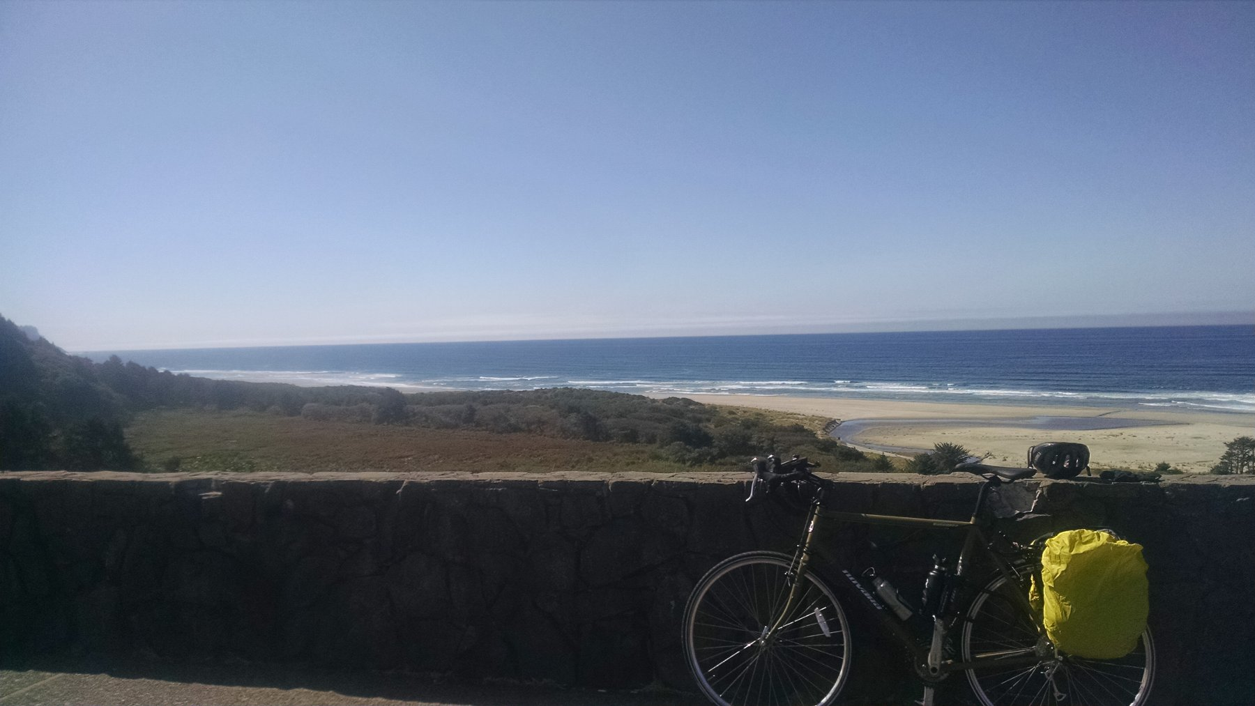 My bike with a coastal view